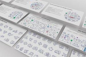 Doodle Infographic Keynote Set