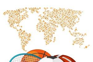 World sport deportes concept