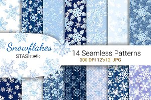 Snowflakes Watercolor Paper
