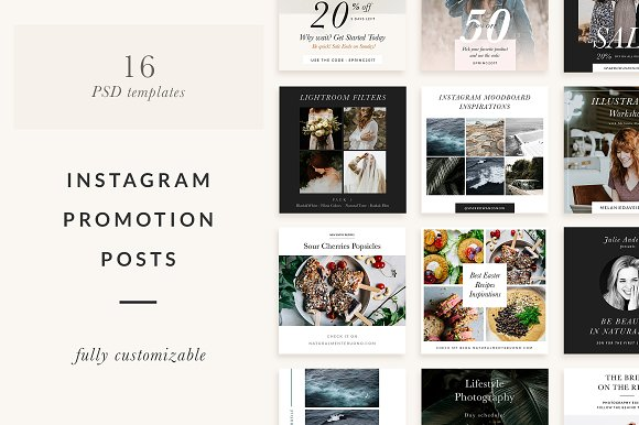 Instagram Promotion Templates