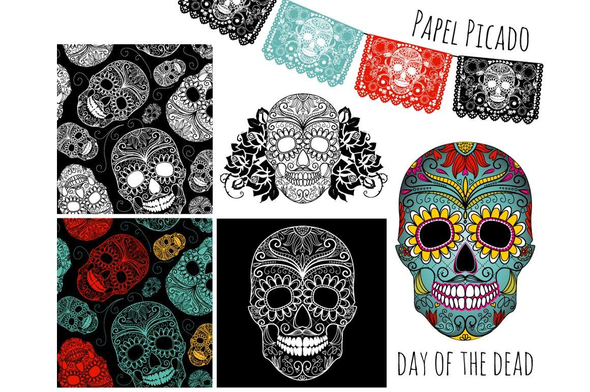 Sugar Skull Day of the Dead Clip Art ~ Illustrations ...