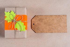 Gift box on background