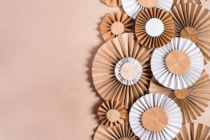 Craft paper rosette flowers