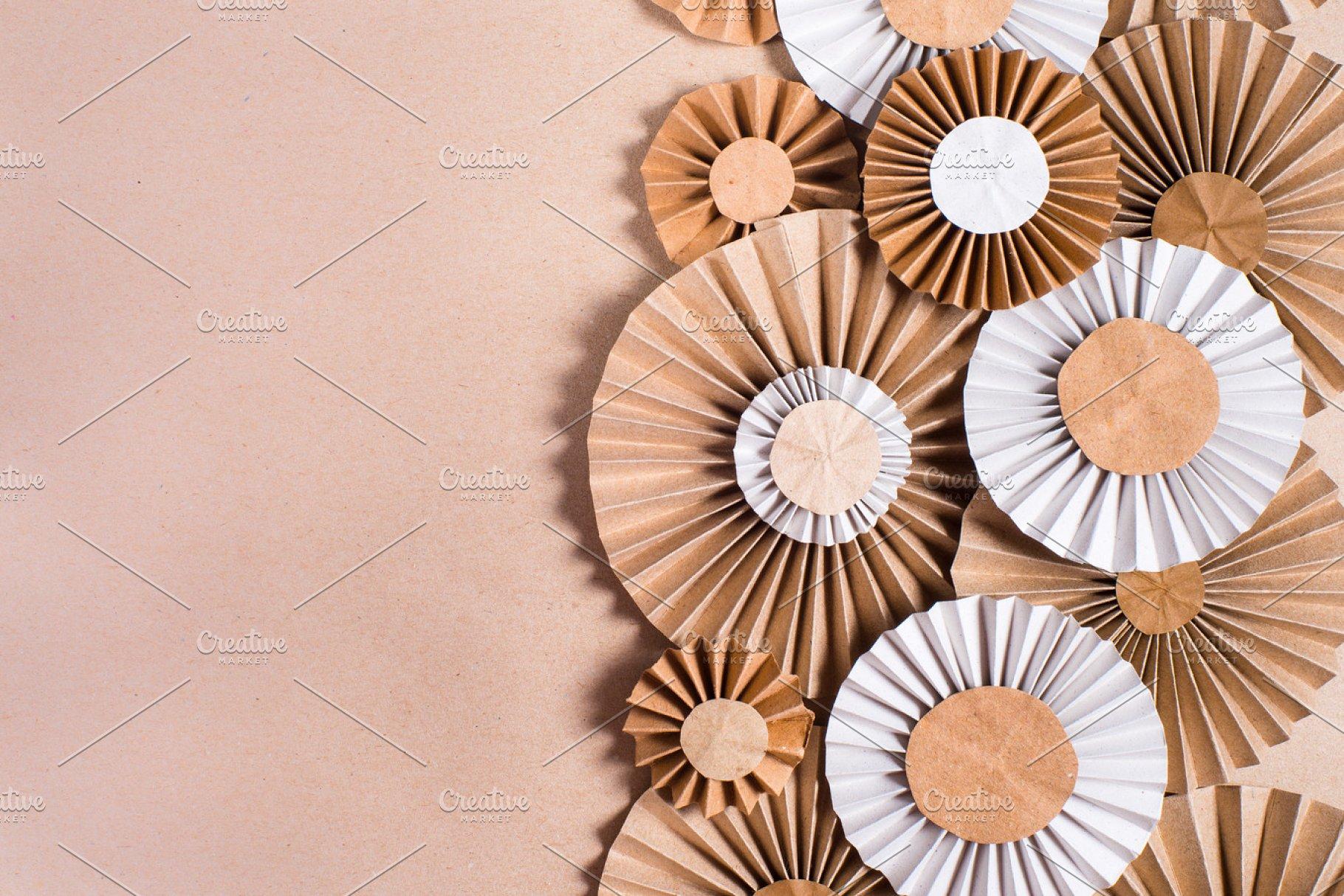 Craft Paper Rosette Flowers