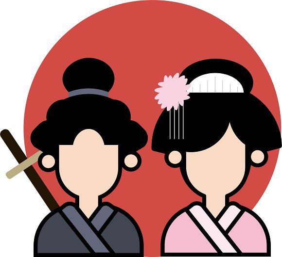 Japanese Samurai Couple