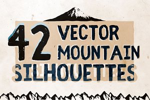Vector Mountain Silhouettes