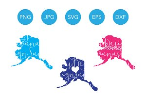 Alaska SVG Cut Files and Clipart