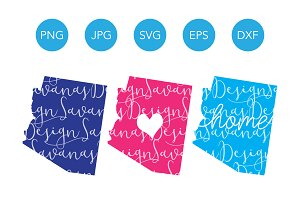 Arizona SVG Cut Files and Clipart