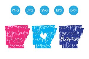 Arkansas SVG Cut Files and Clipart