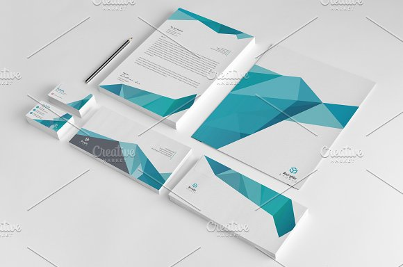 Abstract Stationery Design
