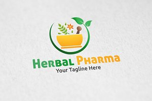 Herbal Pharma - Logo Template