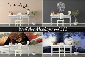 Wall Mockup - Sticker Mockup Vol 513