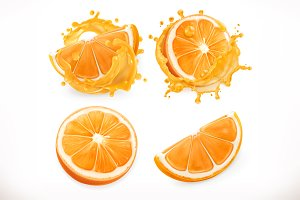 Orange juice. Vector