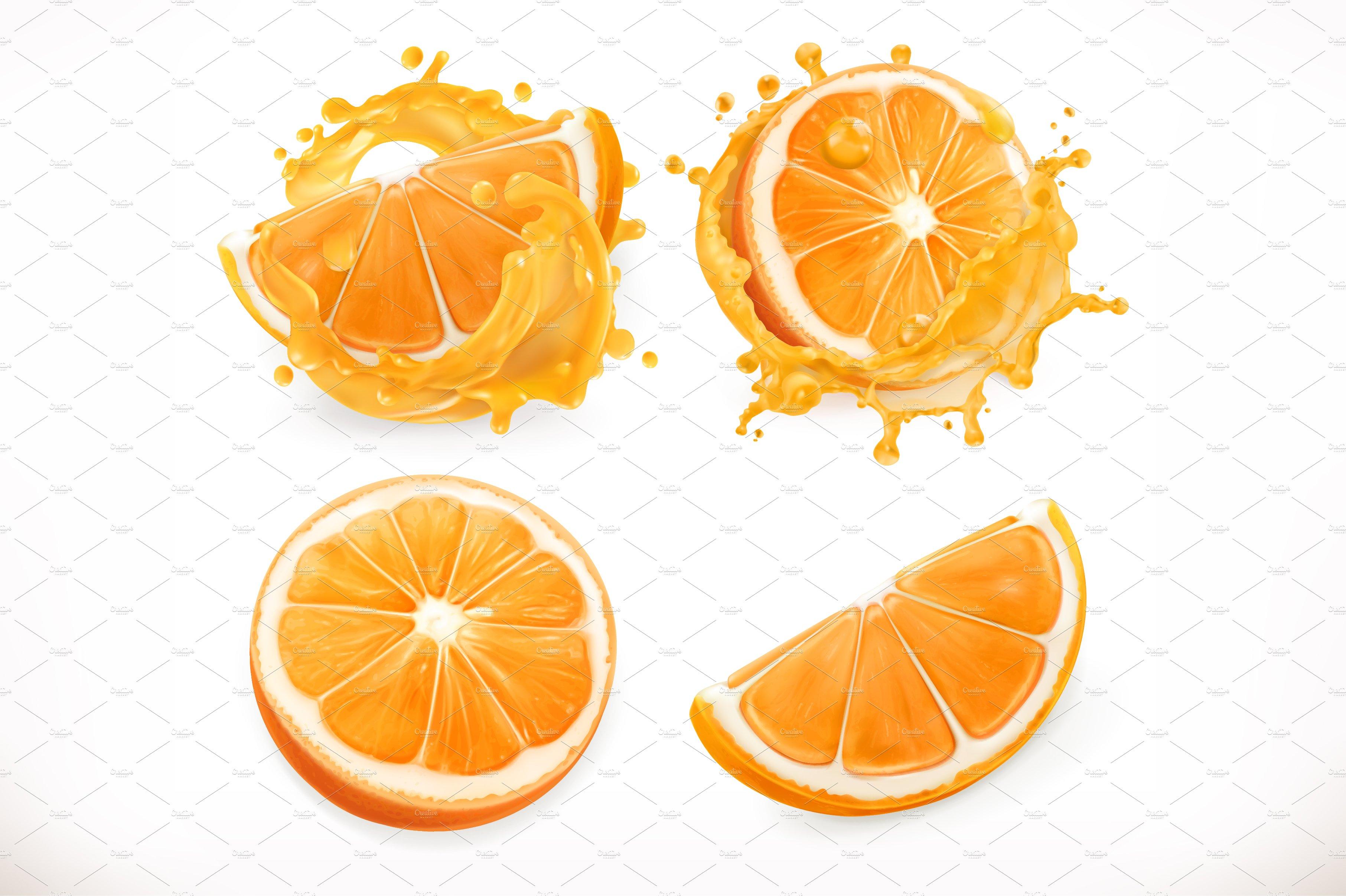 orange juice vector illustrations creative market