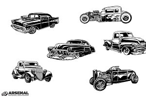 Vintage Cars Vector Pack