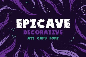 Epicave All Caps Display Font