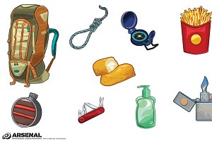 Survival Kit Camping Vector Pack