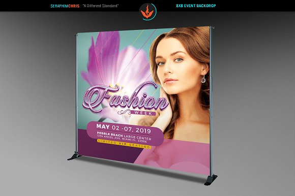 Fashion Week 8x8 Backdrop Template in Templates - product preview 1