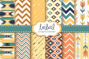 Tribal Backgrounds,Ikat Navajo Aztec