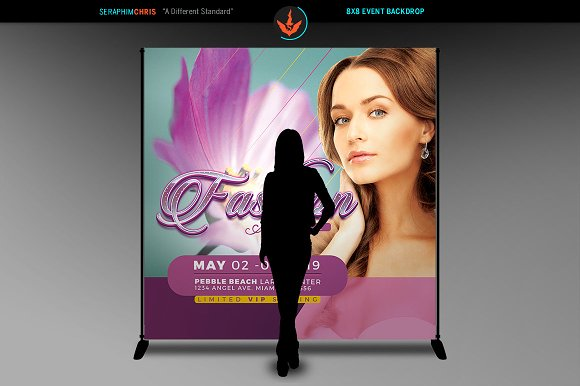 Fashion Week 8x8 Backdrop Template in Templates - product preview 2