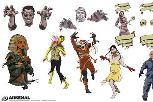 Mummies & Zombies Vector Pack