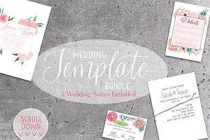 Wedding Invitation Template Bundle