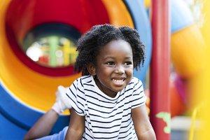Black girl having fun at park