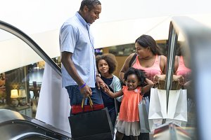 Black family shopping time