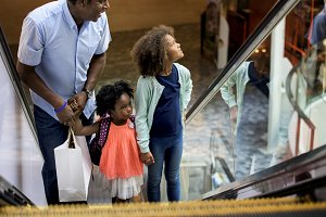 Black family shopping time