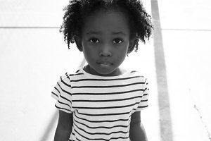 Little black girl portrait