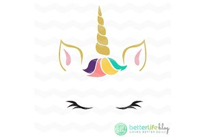 Unicorn Face Vector, EPS, SVG, DXF