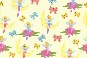 Set of fairy with a magic wand