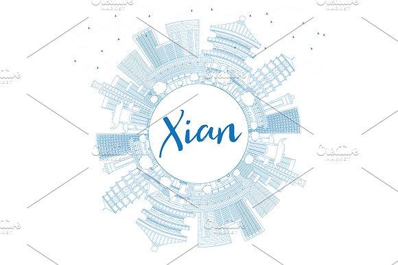 Outline Xian Skyline