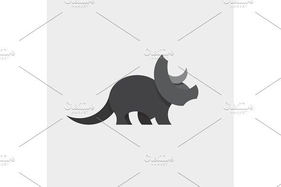 Dinosaur Triceratops Animals Design Illustration Graphics And Flat Style Art