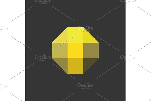 T Letter The Form Of Abstraction Yellow Vector Into Flat Style Modern Minimalism