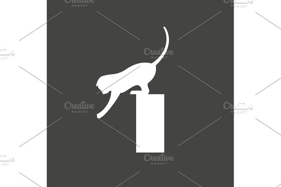 Cat Playing Reaching Flexible Agile Animal Vector Illustration Of A Flat