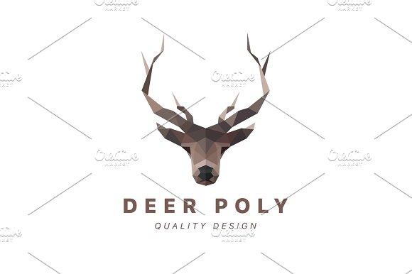 Deer Low Poly Vector Illustration Polygons Horned