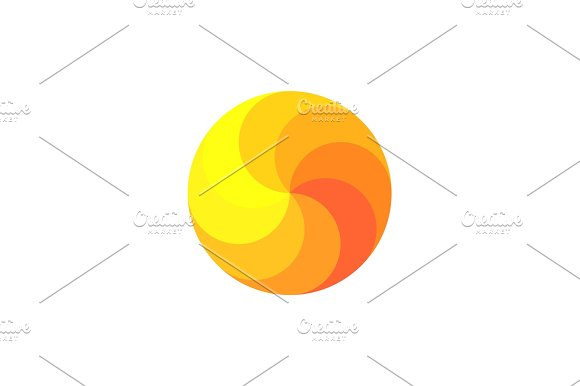 Scope Rainbow In Shades Of Orange Spiral Swirling Illustration