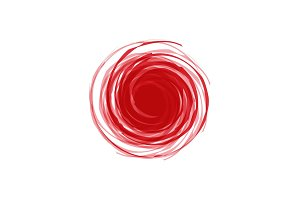 Twisted Spiral Abstract illustration of red in the background