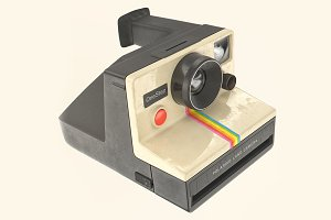 Polaroid OneStep camera 3D model