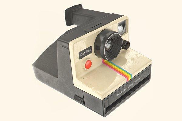 3D Electronics: Mike's Shop - Polaroid OneStep camera 3D model