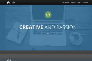 Passio Flat bootstrap template