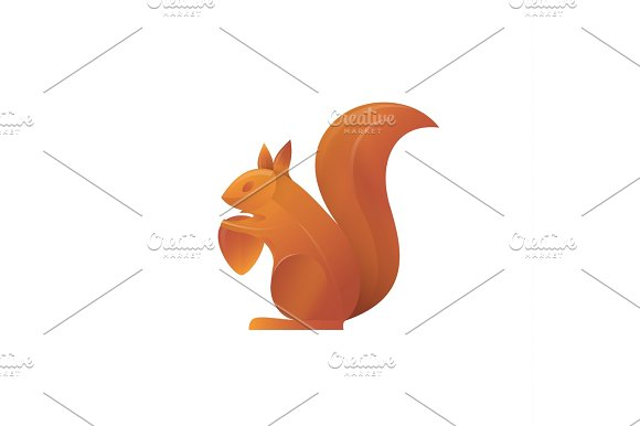 Squirrel Trend Vector Illustration Volume Gradient