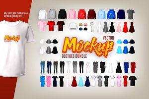Vector clothes Mockups bundle