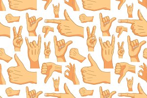 Common cartoon hand signs