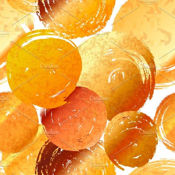 Golden Grunge Round Spots Of Foil