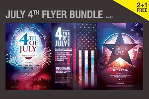 July 4th & Memorial Day Flyer Bundle