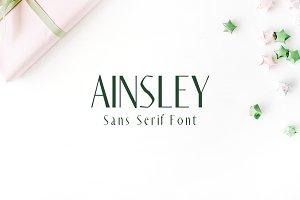 Ainsley Sans Serif Font
