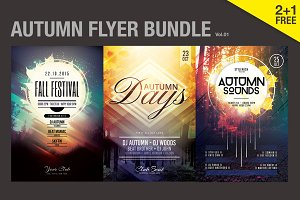 SALE% Autumn Flyer Bundle Vol.01