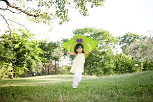 Girl having fun at park